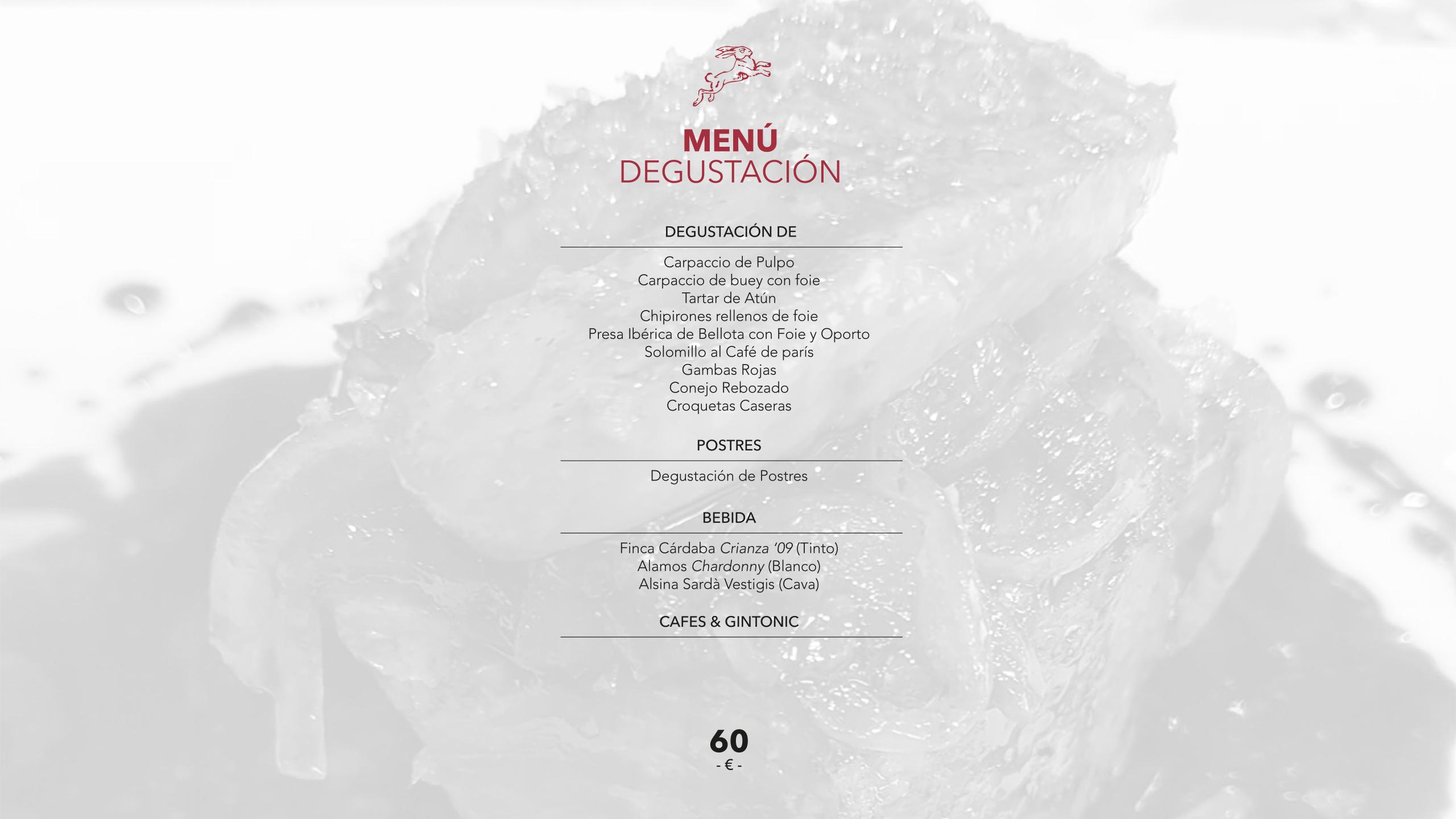restaurant perez menu degustacio